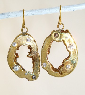 Cast Geode Earrings