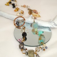 Pyrite and Mother-of-Pearl Necklace