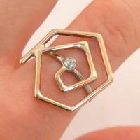 Geometric Spiral Ring