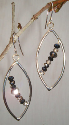 Sickle and Crystal Earrings