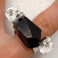 Black Tourmaline Spinning Ring