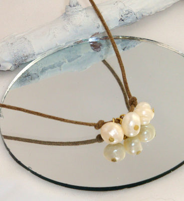 Triple Pearl and Cotton Necklaces