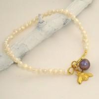 Single Silver Pearl Bracelet