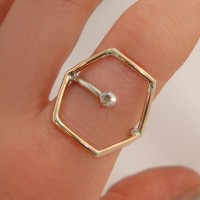 Honeycomb Crystal Ring