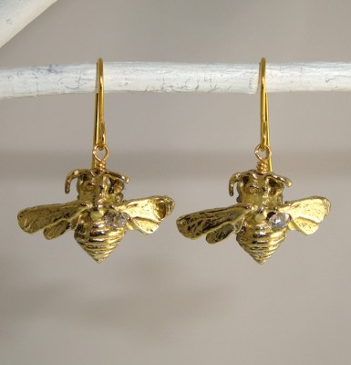 Bumble Bee Dangle Earrings