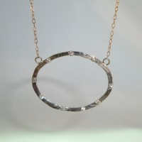 Oval Crystal Pendant Necklace