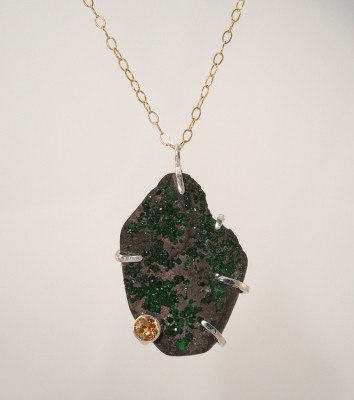 Emerald Crystal Pendant Necklace