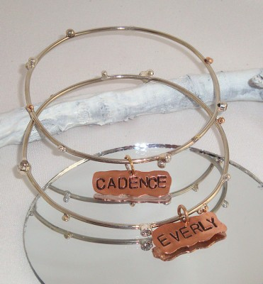 Name Tag Bangle Bracelets