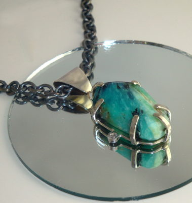 Aqua Peruvian Opal Necklace