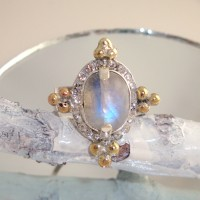 Moonstone Rhinestone Ring