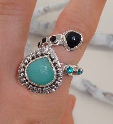 Spinel and Aqua Ring