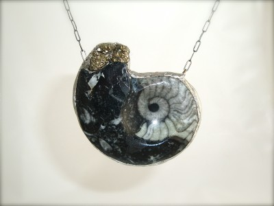 Fossilized Ammonite Necklace