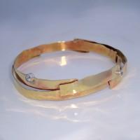 Banded Brass Bracelet