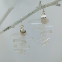 Quartz Ice Earrings
