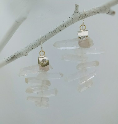 Quartz Ice Earrings