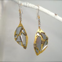 Pyrite Shard Earrings