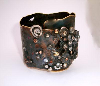 Encrusted Urchin Cuff Bracelet