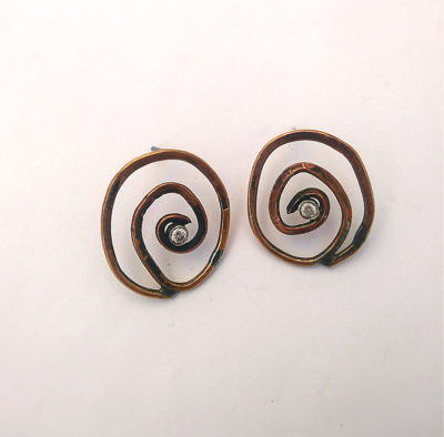 Spiral Formed Earrings