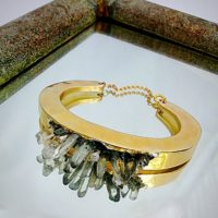 Dark Crystal Cuff Bracelet