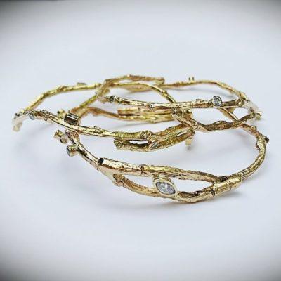 Gold Branch Bracelets