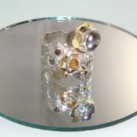 Citrine and Pearl Ring