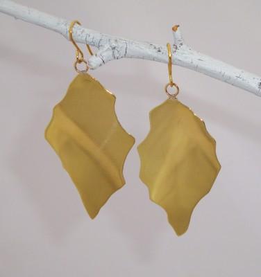 Glowing Brass Earrings