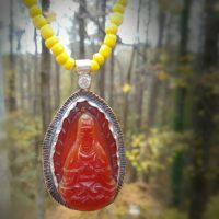 Carnelian Buddha Necklace