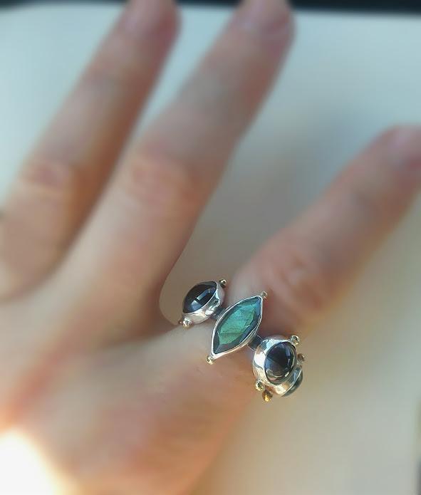 Labradorite Marquise Ring