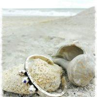 Single Sapphire Cuff Bracelet