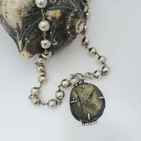 Cracked Pyrite Necklace