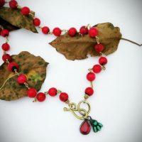 Padparadscha Teardrop Necklace