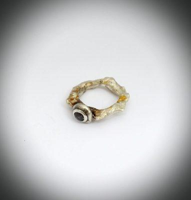 Silver Iolite Ring
