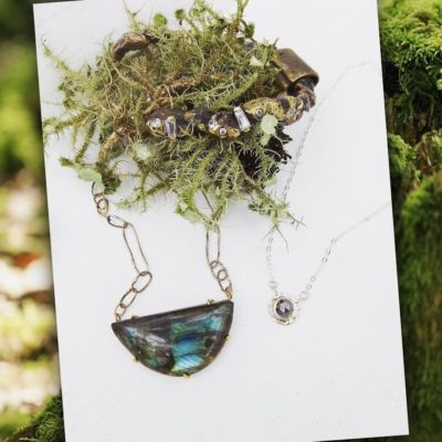 Crescent Labradorite Necklace