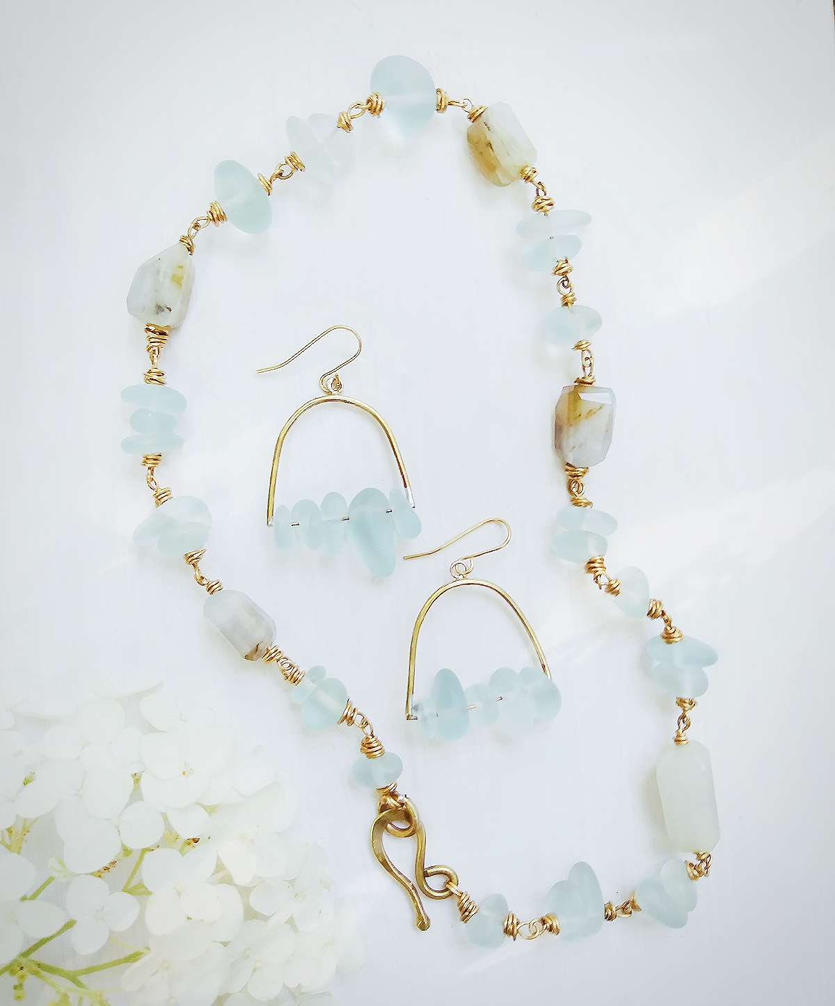Aqua Sea Glass Set